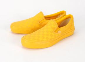 vans slip ons yellow