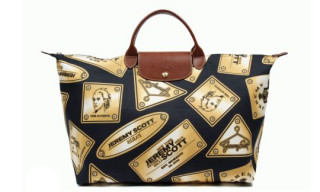 "Jeremy Scott x Longchamp ""Gold Plates"" Pliage Bag"