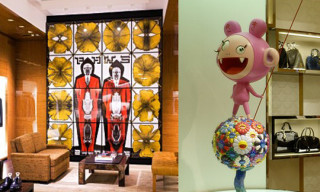 Louis Vuitton Maison London – Art by Jeff Koons, Damien Hirst, Murakami and more