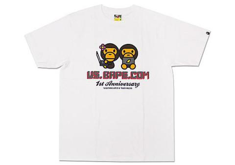 Bape us bape st anniversary t shirt highsnobiety