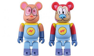 "Ren & Stimpy ""Space Madness"" 100% Be@rbricks"
