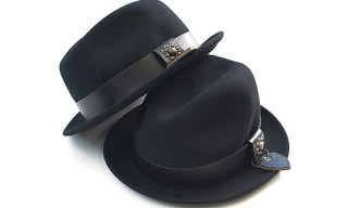 Victim x HTC Leather Studs Felt Hat