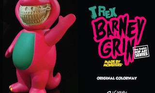 "Made by Monsters x Ron English T-Rex ""Barney Grin"" Vinyl Toy"