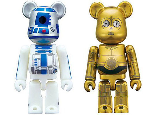 R2d2 And C3po Toys : Medicom star wars c po and r d bearbrick set