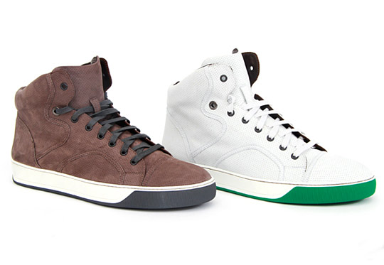 Lanvin Perforated High Top Sneakers Fall/Winter 2010 ...