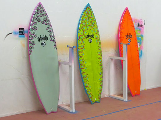 S/Double by Shawn Stussy Surf Boards   Highsnobiety  Neon Surfboards
