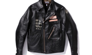 Toys McCoy Product for Bape Leather Biker Jacket