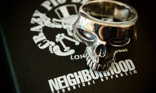 Neighborhood x Crazy Pig Skull Ring