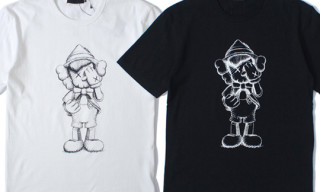 Original Fake KAWS Pinocchio and Jiminy Cricket T-Shirts