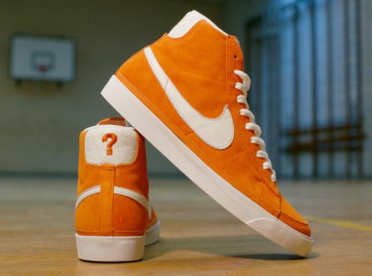 nike blazers orange