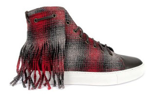 Trussardi 1911 Plaid Fringes High Top Sneaker Fall 2010