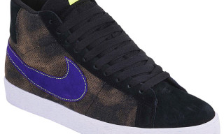 Nike SB Blazer High Black Washed Denim