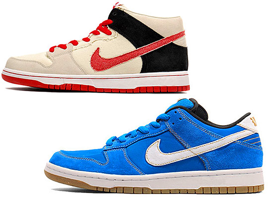 "Nike SB Street Fighter Pack - Dunk Low ""Chun Li"" & Dunk Mid"