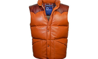 Penfield 35th Anniversary Outback Leather Down Vest