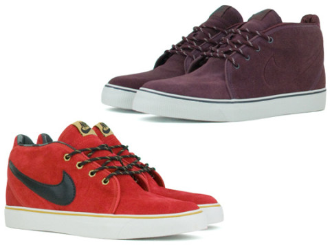 The popular Nike Toki ND sneaker returns for Holiday 2010 in two solid new  make-ups. The two sneakers feature suede uppers and hiking style laces.