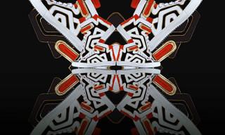 Pierre Hardy Colorama Graff #2 High Top Sneaker Fall 2010