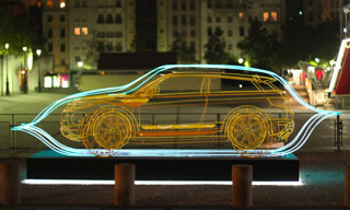 Range Rover Evoque Wire Frame Sculptures by JC de Castelbajac, Andre, Yorgo Tloupas, Surface 2 Air