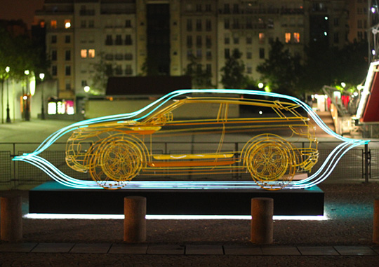 Range Rover Evoke >> Range Rover Evoque Wire Frame Sculptures by JC de ...