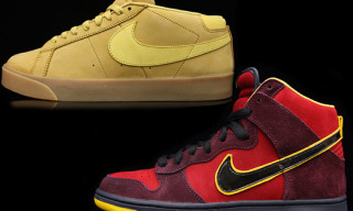 "Nike SB November 2010 Releases – Blazer Mid CS, Dunk Hi ""Iron Man"""