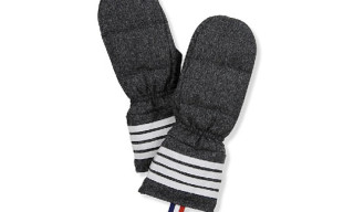 Thom Browne Donegal Tweed Mittens