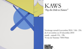 "Kaws ""Pay The Debt To Nature"" at Galerie Emmanuel Perrotin Paris"