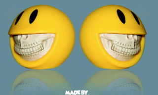 "Made by Monsters x Ron English ""Smiley Grin"" Piggy Bank"