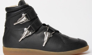 Maison Martin Margiela Waxed Leather Baseball Sneaker