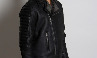 Noir Basic Lambskin Leather Motor Jacket