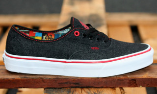 Vans x Queen Black Denim Authentic
