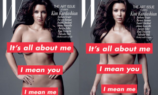 Kim Kardashian x Barbara Kruger for W Magazine Art Issue