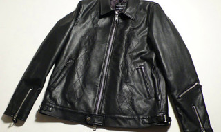 Goodenough Argyle Leather Jacket