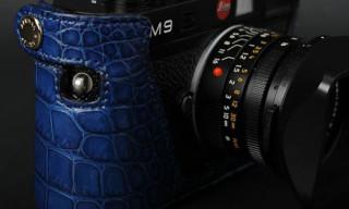 Leica M9 Crocodile Leather Case