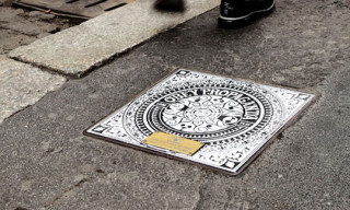 Street Art Manhole Covers in Milan