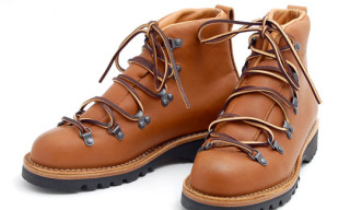 "Leffot x Vibert ""Vintage Tan"" Hiking Boots"