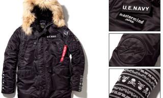 mastermind JAPAN x uniform experiment x ALPHA TIGHT N-3B