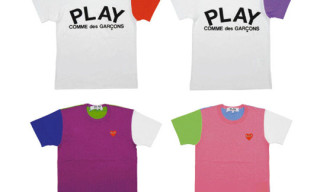 "PLAY Comme des Garcons ""Merry Happy Crazy Color"" X'Mas T-Shirts"