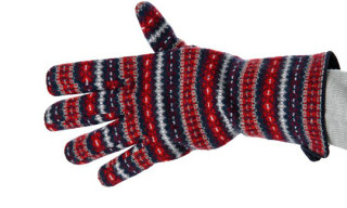 White Mountaineering Wool Jacquard Knit Gloves