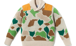 Billionaire Boys Club Shawl Collar Camo Sweater