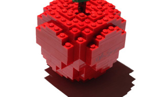 "Comme des Garcons x Nathan Sawaya ""Merry Happy Crazy Colour"" Lego Apple Sculpture"