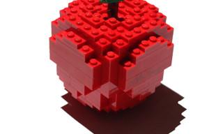 """Comme des Garcons x Nathan Sawaya """"Merry Happy Crazy Colour"""" Lego Apple Sculpture"""