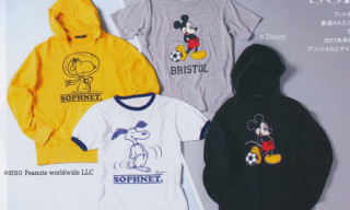 Sophnet x Peanuts & Mickey Mouse Apparel