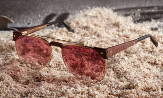 Vintage Frames Shop x Caviar Exotic Wood Collection Sunglasses