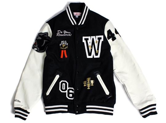 Wish X Mitchell Amp Ness Varsity Jacket Highsnobiety