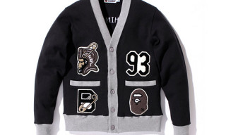BAPE Letterman Cardigan Sweater