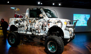 "David Choe Monster Truck at JANM ""Zen Garage"" Exhibition"