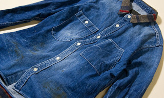 rehacer x ANOUTCOMMUNE Damage Denim Shirts