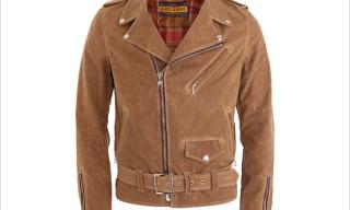 Schott NYC Perfecto Jacket in Khaki Waxed Cotton