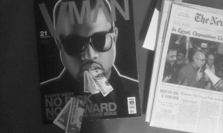 Kanye West by Karl Lagerfeld for Vman