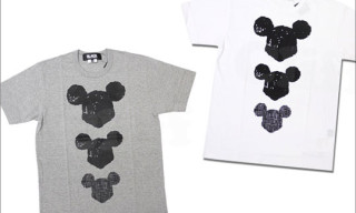BLACK Comme des Garcons x Disney Mickey Mouse T-Shirts