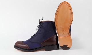 Grenson for Tenue de Nîmes Denim Blue Boots
